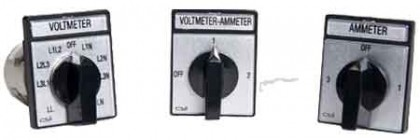 Rotary Cam Switches – Ammeter or Voltmeter