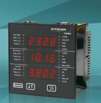 Integra 1630 Multifunction Meter w/Modbus TCP(Ethernet),BacNet,or Profibus
